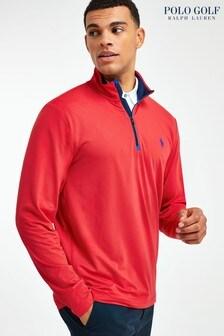 Polo Golf by Ralph Lauren Red 1/4 Zip Top