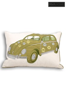 Herbie Embroidered Cushion by Riva Home