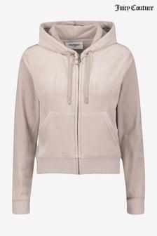 Juicy Couture Velour Zip Up Robertson Hoody