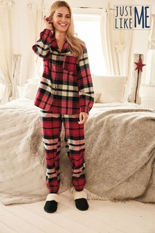 Red Matching Family Womens Check Pyjamas