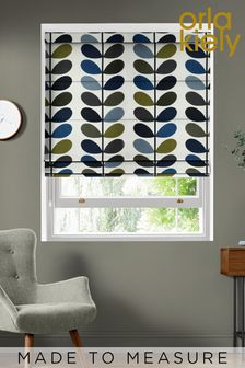 Multi Stem Moss Green Made To Measure Roman Blind by Orla Kiely