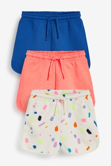 Bright 3 Pack Loopback Jersey Shorts (3-16yrs)