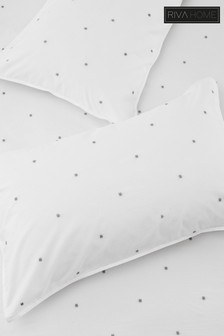 Strand Cotton Embroidered Pillowcase by Riva Home