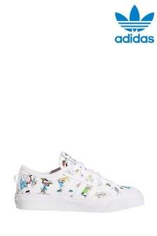 adidas Originals White Disney™ Nizza Youth Trainers