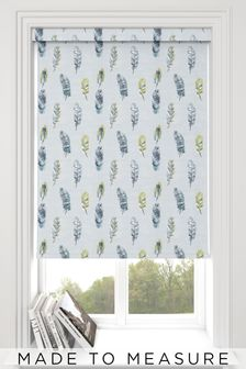 Feather Alpine Blue Made To Measure Roller Blind
