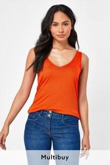 Orange Slouch Vest