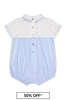 Emporio Armani Baby Boys Blue Romper