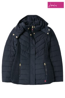 Joules Blue Hartington Padded Mid Length Jacket