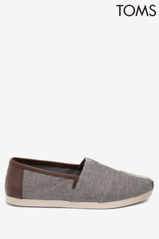 TOMS Frost Grey Chambray Alpargata Shoes