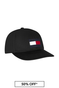 Tommy Hilfiger Kids Black Cotton Hat