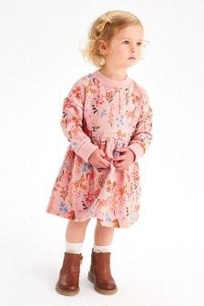 Pink Unicorn Cosy Sweat Dress (3mths-7yrs)