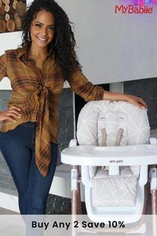 Christina Milian AMPM Geometric Mocha Premium Highchair by My Babiie