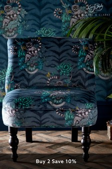Lemur Navy Langley Chair by Emma Shipley