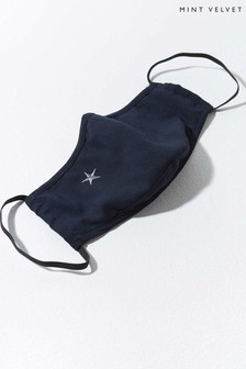 Mint Velvet Navy Star Face Covering