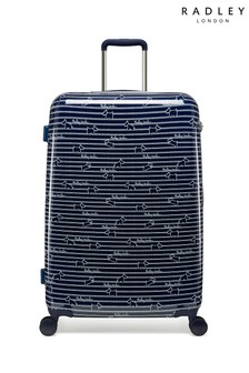 Radley Dog Stripe Large Hard Shell Suitcase