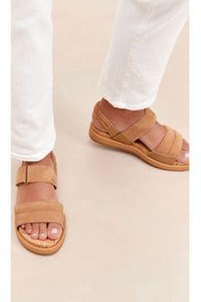 Tan Forever Comfort® With Motion Flex Slingback Sandals