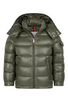 Boys Green Down Padded New Maya Jacket