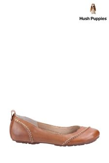 Hush Puppies Tan Janessa Slip-On Shoes