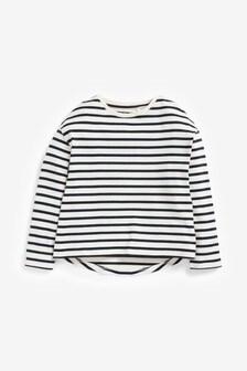 Navy Breton Stripe Top (3-16yrs)
