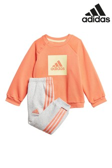 adidas Infant Coral Crew And Jogger Set