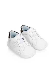 Baby Boys Blue Leather Pre-Walker Trainers