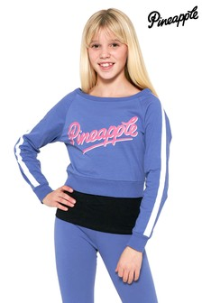 Pineapple Long Sleeve Top Double Layer Set