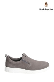 Hush Puppies Grey Lumi Slip-On Trainers