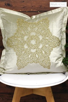 Woodland Snowflake Cushion by Riva Home