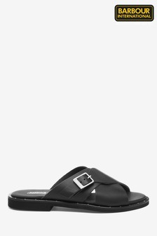 Barbour® International Black Amari Sandals