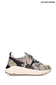 Kurt Geiger Pink Loaded Trainers