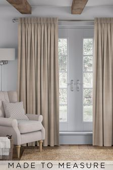 Jasper Praline Natural Made To Measure Curtains