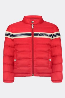 Baby Boys Red Down Padded Haraiki Jacket