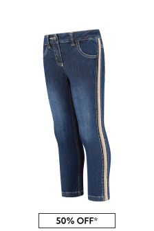 Aigner Girls Blue Cotton Jeans
