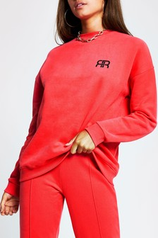 River Island Red Branded Sweat Top