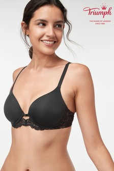 Triumph® Black Amourette Charm Wired Half Cup Padded Bra