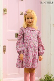 Trotters London Pink Poppy Willow Dress