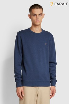 Farah Blue Tim Crew Neck Sweatshirt
