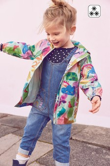 Green Print Shower Resistant Cagoule (3mths-7yrs)