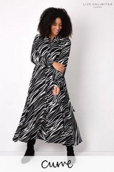 Live Unlimited Curve Zebra Print Dress