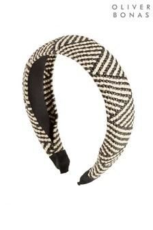 Oliver Bonas Black Jima Raffia Headband