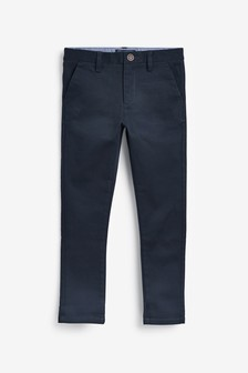Navy Skinny Fit Stretch Chino Trousers (3-16yrs)