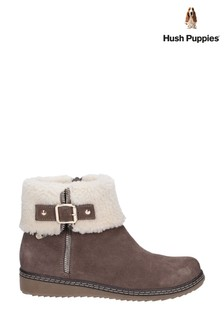 Hush Puppies Grey Maltese Collar Boots