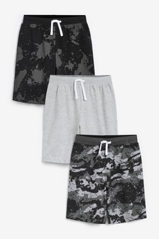 Monochrome 3 Pack Pyjama Shorts (3-16yrs)