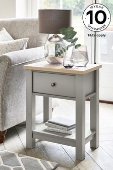 Dove Grey Malvern Storage Side Table