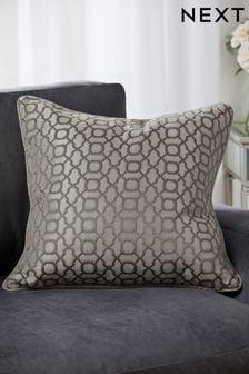 Woven Geo Jacquard Large Square Cushion