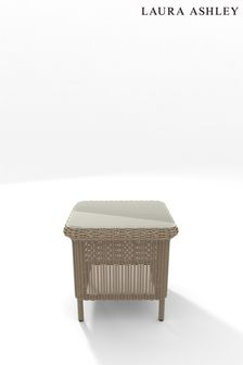 Bewley Natural Glass Top Side Table by Laura Ashley