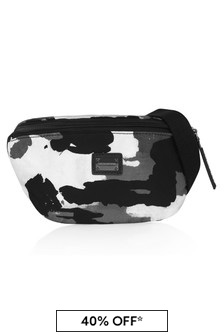 Dolce & Gabbana Boys Khaki Leather Belt Bag