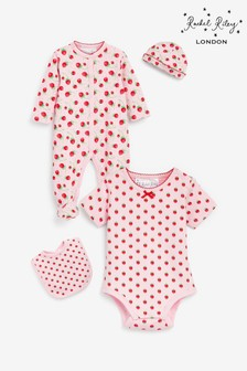 Rachel Riley Welcome Baby Strawberry Gift Set