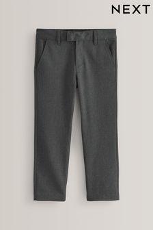 Grey Regular Waist Formal Slim Leg Trousers (3-17yrs)