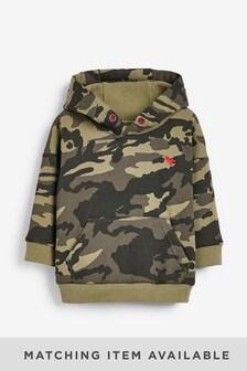 Khaki Camo Hoody Soft Touch Jersey (3mths-7yrs)